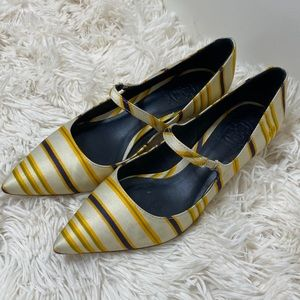 Tory Burch Beverly striped bow low heel shoes